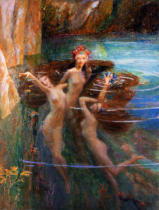 Gaston Bussiere - Water Nymphs, 1927