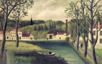 Henri J.F. Rousseau - Landscape with a Fisherman, after 1886