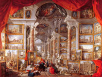 Giovanni Paolo Pannini - Gallery with Views of Modern Rome, 1759