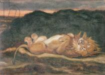 Antoine Louis Barye - Lion Resting on his Back