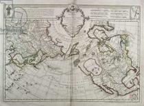 Guillaume Delisle - Map of the New Discoveries to the North of the South Seas, 1750