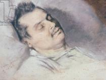Eugene Giraud - Honore de Balzac (1799-1850) on his Deathbed, 15th August 1850