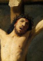 Harmensz van Rijn Rembrandt - Christ on the Cross, detail of the head  (detail of 154029)