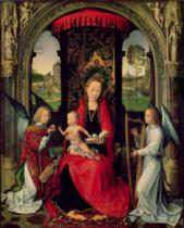 Hans Memling - Madonna and Child with two Angels
