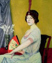 William Strang - The Japanese Fan, 1914