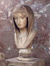 Greek School - Head of a woman known as Aspasia of Miletos