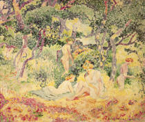 Henri-Edmond Cross - Nudes in a Wood, 1905