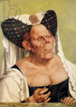 Quentin Massys - A Grotesque Old Woman, possibly Princess Margaret of Tyrol, c.1525-30