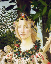 Sandro Botticelli - Flora, detail from the Primavera, c.1478