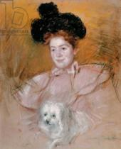 Mary Stevenson Cassatt - Woman holding a dog