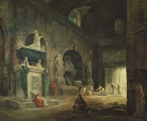 Hubert Robert - View of a Gallery in the Musee des Monuments Francais