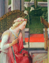 Fra Filippo Lippi - Detail of The Annunciation, detail of the Angel Gabriel