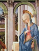 Fra Filippo Lippi - Detail of The Annunciation, detail of the Virgin Mary