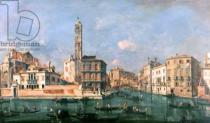 Francesco Guardi - Grand Canal: San Geremia and the Entrance to the Canneregio