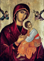 Greek School - Icon depicting the Holy Mother of the Passion