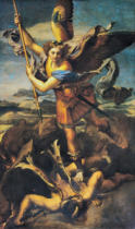 Raphael - St. Michael Overwhelming the Demon, 1518