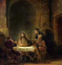 Harmensz van Rijn Rembrandt - The Supper at Emmaus, 1648