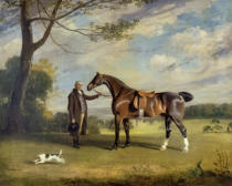 Henry Bernard Chalon - The Earl of Shrewsbury's Groom Holding a Hunter, c.1800