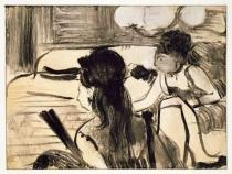 Edgar Degas - Illustration from 'La Maison Tellier' by Guy de Maupassant (1850-93) engraved by Maurice Potin, 1933