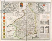 John Speed - Map of Northumberland, from 'The Theatre of the Empire of Great Britaine', 1611-12