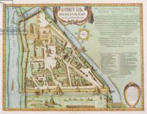 Joan Blaeu - Map showing the Kremlin, Moscow, 1662