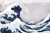Katsushika Hokusai - The Great Wave of Kanagawa, from the series '36 Views of Mt. Fuji'