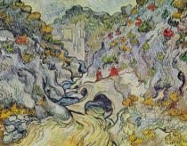 Vincent van Gogh - The ravine of the Peyroulets, 1889