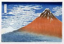 Katsushika Hokusai - Fuji, Mountains in clear Weather, 1831, from the series '36 Views of Mt. Fuji' Hokusai, Katsushika (1760-1849)