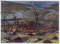 Paul Nash - Air Fight at Wytschaete, from British Artists at the Front, Continuation of The Western Front, Part Three, Paul Nash, 1918