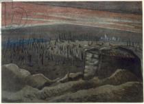 Paul Nash - Sanctuary Wood, from British Artists at the Front, Continuation of The Western Front, Part Three, Paul Nash, 1918