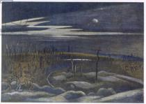 Paul Nash - Meadow with Copse, from British Artists at the Front, Continuation of The Western Front, Part Three, Paul Nash, 1918