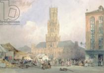 William Callow - The Town Hall, Bruges