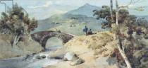 George Chinnery - Chinese Landscape with Bridge
