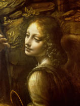 Leonardo da Vinci - Detail of The Virgin of the Rocks  detail of the angel, c.1508