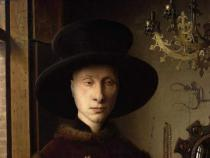 Jan van Eyck - Detail of The Portrait of Giovanni  Arnolfini and his Wife Giovanna Cenami   1434