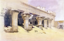 David Roberts - Portico of the Temple of Edfu, Upper Egypt, from 'Egypt and Nubia', Vol.1