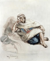 Eugène Delacroix - Seated Arab