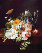 Rachel Ruysch - Vase of Flowers, 1695