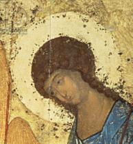 Andrei Rublev - Detail from The Holy Trinity, 1420s