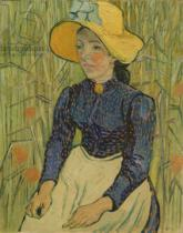Vincent van Gogh - Peasant Girl in Straw Hat, 1890