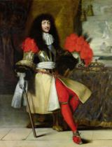French School - Seated Portrait of Louis XIV (1638-1715) after 1670