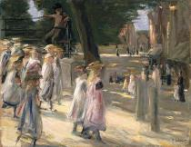 Max Liebermann - The Road to the school on Edam
