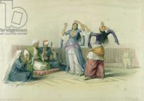 David Roberts - Dancing Girls at Cairo, from 'Egypt and Nubia', engraved by Louis Haghe (1806-85)