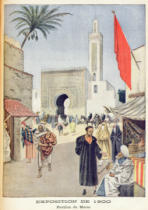 French School - The Moroccan Pavilion at the Universal Exhibition of 1900, Paris, illustration from 'Le Petit Journal', 23rd September 1900