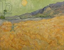 Vincent van Gogh - Wheatfield with Reaper, 1889