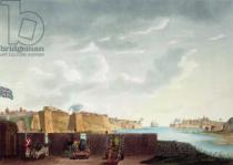 Captain James Weir - View of La Valletta during the siege of 1800, engraved by Francis Chesham, 1803