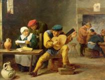 David Teniers - Peasants Making Music in an Inn, c.1635