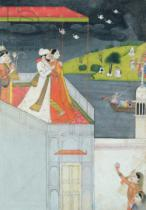 Indian School - Lovers on a Terrace, c.1780-1800