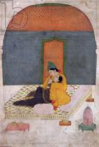 Indian School - Lovers on a terrace, Garhwal, c.1780-1800