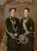 Sir John Everett Millais - The Twins, Portrait of Kate Edith and Grace Maud Hoare, 1876